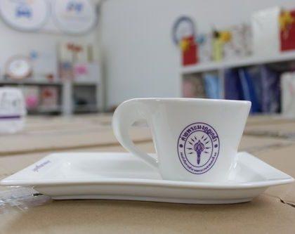 ชุดแก้วกาแฟ พร้อมจานรอง